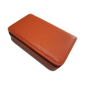 カモミル KAMOMIRU 選べる 7色 名刺入れ カードケース ビジネス カラフル オレンジ takuta2