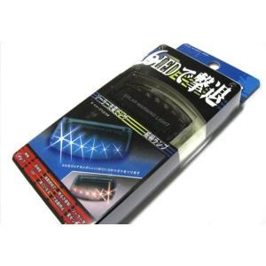 青 光 で 撃退 ブルー 6 LED スキャン セキュリティ ライト ソーラー 充電 衝撃 感知 A059 takuta2
