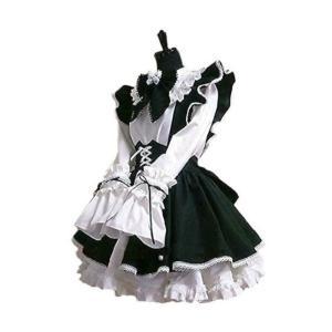 カチューシャ付き メイド 服 衣装3点セット コスチューム ...