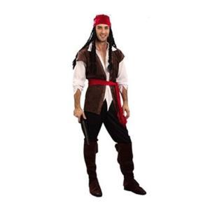 カリブ 海賊 コスプレ衣装 フェイスペイント 付  メンズ takuta2