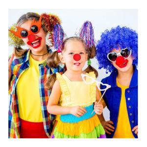 トナカイ ピエロ 赤鼻 2個セット コスチューム用小物 男女共用コスプレ用|takuta2