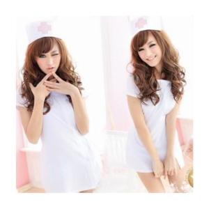 看護婦 ナース服・帽子 2点セット 白 コスチューム レディース takuta2