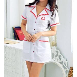 ナース服 看護婦コス セクシーコスチューム ホワイト...