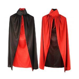 ハロウィン クリスマス マント ドラキュラ風 赤黒 リバーシブル コスプレ イベント 衣装 (90cm)|takuta2
