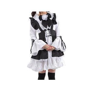レディース 白黒メイド服 コスチューム カチューシャ付き Mサイズ|takuta2