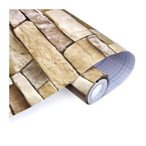 自宅や店舗の DIY リメイク が 気軽に始めれる 接着剤不要のはがせる壁紙シール(レンガ調)|takuta2