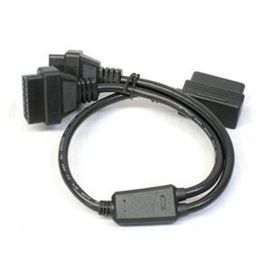 OBD2用16PIN延長2分岐ケーブル L型メスカプラー