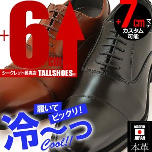 シークレットシューズ メンズシューズ 本革日本製 AN4506 背が高くなる靴 6cmUP 7cmUP ビジネスシューズ|tallshoes