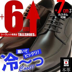 シークレットシューズ メンズシューズ 本革日本製 AN4507 背が高くなる靴 6cmUP 7cmUP ビジネスシューズ|tallshoes