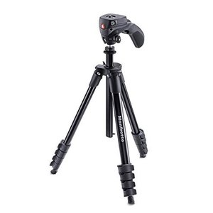Manfrotto 三脚 COMPACT Action フォト・ムービーキット アルミ 5段 ブラッ...