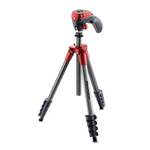 Manfrotto 三脚 COMPACT Action フォト・ムービーキット レッド アルミ 5段...