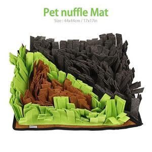 Petneces 犬のトレーニングマット ペット鼻用毛布 もっと運動 ペットおまちゃ ノーズワーク 鼻づまり 餌マット 嗅覚活用 遊び場所 訓練毛布|tam-com