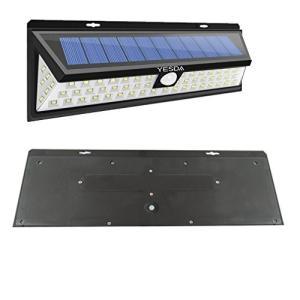 YESDA 超明るい 90LED ソーラーライト 広角照明 人感センサー 玄関入口/屋外/軒先/ガーデン/駐車場などに適用|tam-com