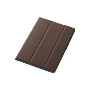 エレコム iPad Pro 9.7インチ レザーケース 手帳型 イタリアンレザー ブラウン TB-A16WDTBR|tam-com