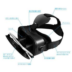 Canbor VRゴーグル VRヘッドセット VRグラス 3Dメガネ 動画 ゲーム 映画 Bluet...