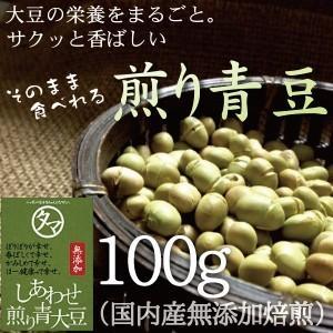 煎り青大豆 100g 青大豆使用 国産 大豆 豆菓子 スイーツ だいず ダイズ ソイ プロテイン 焙...