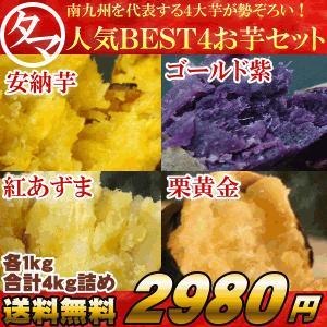 サツマイモ 福袋 お芋4種お試しセット 4kg 南九州|tamachanshop