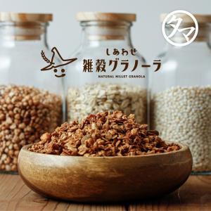 しあわせ雑穀 グラノーラ 200g 九州産(大麦 ハトムギ 玄米 豆乳) 砂糖・香料・着色料・保存料不使用|tamachanshop