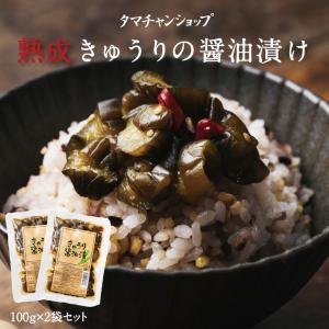 きゅうりの醤油漬け 100g×2袋 宮崎産 しょうゆ漬け 漬物 漬け物 ポイント消化 送料無料
