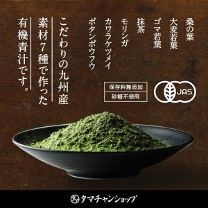 ななつのしあわせ青汁1箱 (30包) 有機JAS認定 オーガニック認証 7種類 健康 青汁 大麦若葉 抹茶 ボタンフウソウ 送料無料|tamachanshop|02