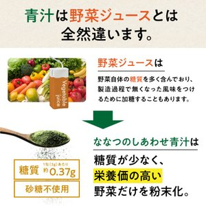 ななつのしあわせ青汁1箱 (30包) 有機JAS認定 オーガニック認証 7種類 健康 青汁 大麦若葉 抹茶 ボタンフウソウ 送料無料|tamachanshop|10
