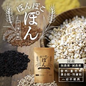 シリアル  ぽんぽこぽん 栄養豊富 16種類 雑穀 パフ シリアル 送料無料|tamachanshop|02