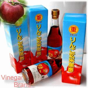 りんご玄米黒酢 500ml 福山 丸重 伝統 黒酢 九州 鹿児島 健康 ドリンク 飲料|tamachanshop