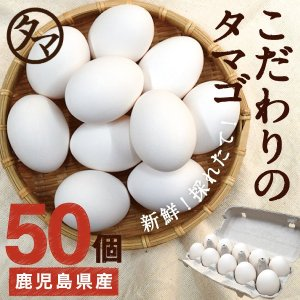 こだわり新鮮なとろ〜り 霧島山麓たまご50個 ビタミンEは一般卵のなんと10倍栄養たっぷり♪