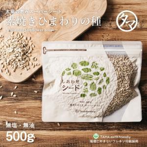 ひまわりの種 500g 無塩 無油 無添加 素焼き サンフラワー シード 送料無料|tamachanshop