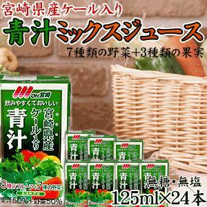 青汁ミックス 125ml×24本 食塩・砂糖不使用! 常温長期保存可能!九州 / 野菜ジュース|tamachanshop