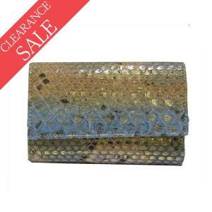 パイソン 3つ折り 財布 イタリア製 シルヴァーノ ビアジー...