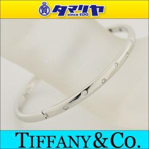 TIFFANY&Co. ティファニー ハーフダイヤ ドッツ バングル Pt950 プラチナ 26781028