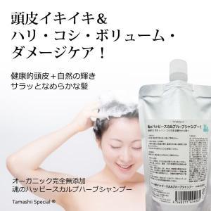 魂のハッピースカルプハーブシャンプー 300ml(泡シャンプー詰替用) オーガニック 無添加 頭皮シャンプー 泡で出してショートで2.5か月分 tamashii