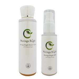 モリンガブライト化粧品セット - モリンガブライトミネラル化粧水150ml+モリンガブライトミルク60ml 乳酸菌発酵モリンガエキス配合 天然由来100% 完全無添加|tamashii
