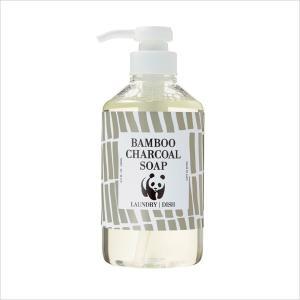 竹炭の石けん(無香料)500ml  竹ミネラルの石けん洗浄剤 合成界面活性剤・柔軟剤・漂白剤・蛍光増白剤不使用|tamashii