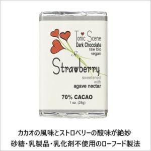 【季節限定品】ローチョコレート(ストロベリー)28g  無添加オーガニックチョコレート カカオ70%配合 砂糖・乳製品・乳化剤不使用のローフード製法