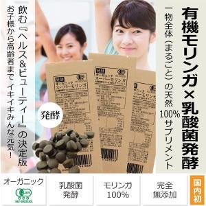 オーガニック発酵スーパーモリンガ(250mg×40粒×3袋)<トライアル15日分> 乳酸菌発酵モリンガ100%サプリメント 有機JAS認証 天然100% 完全無添加|tamashii