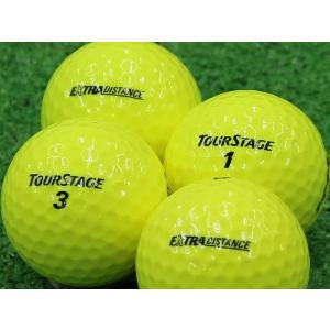 ロストボール Aランク ロゴなし ツアーステージ EXTRA DISTANCE イエロー 2014年モデル 1個