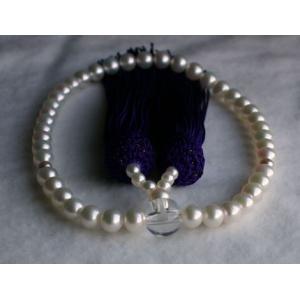 ホワイトアコヤ真珠数珠(6.5mm−7mm)伊勢志摩産アコヤ真珠念珠|tamatyan