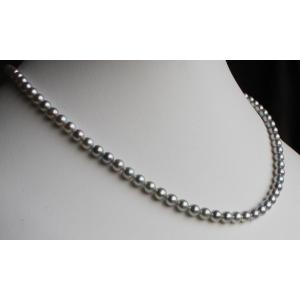 ベビーパールネックレス グレー 4.5-5mm 伊勢志摩産 アコヤ真珠|tamatyan
