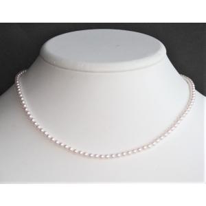 ベビーパールネックレス 3-3.5mm 伊勢志摩産 アコヤ真珠ネックレス  |tamatyan