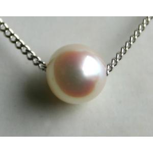 アコヤ真珠1粒スルーパールネックレス 6-6.5mm 伊勢志摩産あこや真珠|tamatyan