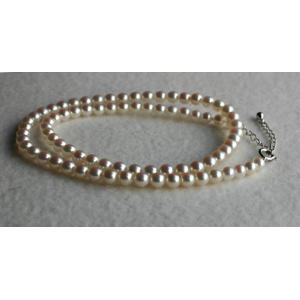ベビーパール 花珠級4-4.5mmアコヤ真珠ネックレス  アジャスター付き|tamatyan