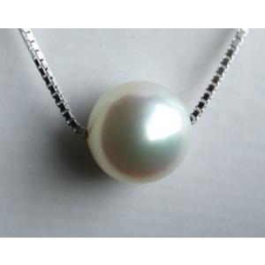 アコヤ真珠8.5-9mm 1粒 スルーパールネックレス!長さ調節タイプ|tamatyan