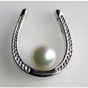 馬蹄形のタックブローチ2 伊勢志摩産 アコヤ真珠 シルバー製|tamatyan