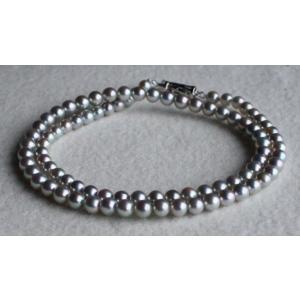 グレー ベビーパールネックレス 4.5-5mm 伊勢志摩産 アコヤ真珠ネックレス  |tamatyan
