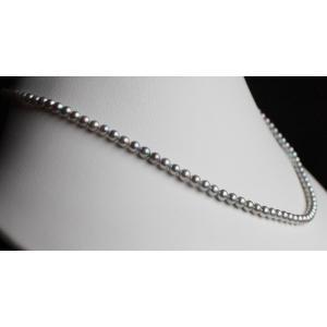 ベビーパールネックレス アコヤ真珠 グレー 3.5-4mm 伊勢志摩産 アコヤ真珠ネックレス  |tamatyan