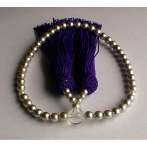 グレー アコヤ本真珠 数珠(念珠)5.5mm−6mm 伊勢志摩産 あこや真珠  |tamatyan