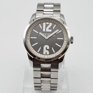 【BVLGARI】ブルガリ ソロテンポ メンズクォーツ腕時計 ST37S SS 格子柄文字盤【中古】