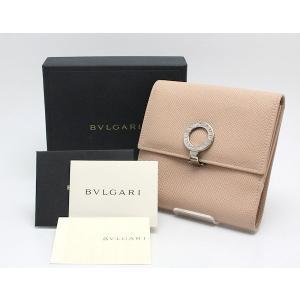 BVLGARI☆ブルガリ★二つ折り財布 両開き ベージュ系 レザー★02035